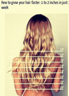 How To Grow Your Hair Faster: 1 To 2 Inches In Just A Week  #Beauty #Trusper #Tip