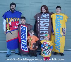 Love It Sew Much!: Costume Collection Part 4: PEANUTS & CHOCOLATE BARS
