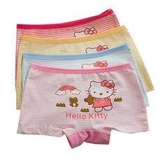 XPX Garment 6 Pack Little Girls Boyshorts Knicker Baby Girl Cotton Lovely Boxer Briefs Hipster Underwear 3-10 Years