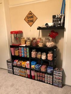 Home Cinema Room, At Home Movie Theater, Home Theater Rooms, Room Ideas Bedroom, Bedroom Decor, Casa Disney, Hangout Room, Game Room Basement, Organizing