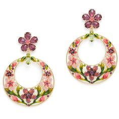 Berry Jewelry Floral Dangle Earrings gvLb8CvFD