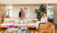 Celebrity fashion stylist Jessica De Ruiter at home with her husband and daughter. See the rest of their beautiful Silverlake home here!