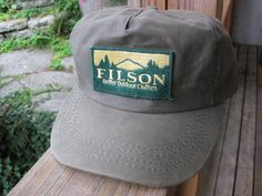 Vtg C C Filson Long Bill Hat Tin Cloth Outdoor Fishing