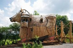 Le Balade des Gnomes Hotel, Wallonia, Belgium. Fairytale-esque rooms and a Trojan Horse suite.   http://www.unusualhotelsoftheworld.com/LaBaladedesGnomes