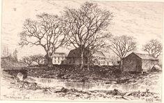 "Edmund Henry Garrett - original etching - ""The Wayside Inn"" #Realism #art #print #EdmundGarrett #ebay #etching"