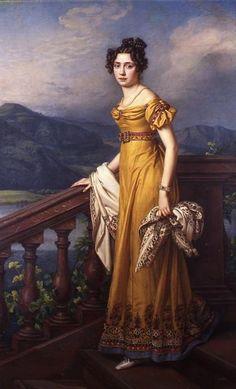 Portrait of Princess Amalie by Joseph Karl Stieler, 1823