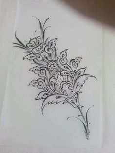 So very elegant. Tile Patterns, Pattern Art, Paint Designs, Designs To Draw, Hand Embroidery Designs, Embroidery Patterns, Zentangle, Stencil Printing, Turkish Art