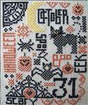 Quaker 31 free Halloween cross stitch