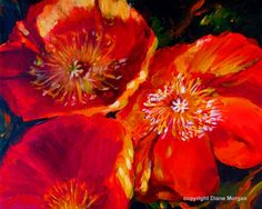 California Poppies, painting by artist Diane Morgan