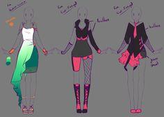 Ideas for designing clothes clothing design ideas drawing clothes manga clo Fashion Design Drawings, Fashion Sketches, Art Anime, Manga Anime, Anime Outfits, Cute Outfits, Anime Dress, Drawing Clothes, Manga Clothes
