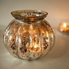 Amazon.de: Insideretail 700460-12-3 Mini Rund Vase, 13 cm, 3-er Set, mercury Glas silber