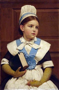 Charity School Girl ~ George Dunlop Leslie (British, 1835-1921)