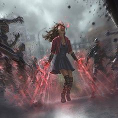 Scarlet Witch Age of Ultron by Andy Park - Marvel Universe Marvel Comics, Marvel Heroes, Marvel Avengers, Avengers Fan Art, Marvel Fan Art, Age Of Ultron, Wanda Marvel, Scarlet Marvel, Wanda Avengers