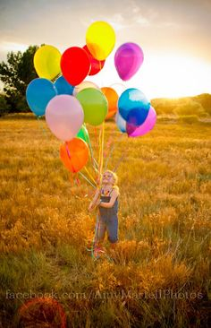 one of her many birthday pictures... #balloons #Photography #birthday #A Photography