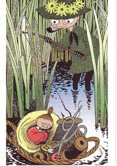 Snufkin and little My - brother and sister - Moomin Valley - Tove Jansson, Finland Little My Moomin, Tove Jansson, Moomin Tattoo, Les Moomins, Moomin Valley, Cecile, Children's Book Illustration, Art Inspo, In This World