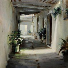 "Rincones de Capileira / Places of Capileira.  3er Premio del II Certamen de Pintura Rápida ""la Comarca Alpujarreña"". Capileira (Granada) de Javier Martín Aranda"
