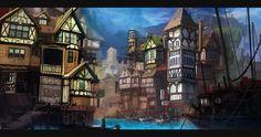 Tudor River City by Appylon.deviantart.com on @deviantART