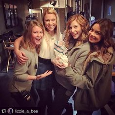 """""""Yes sir! That's my babe-ees!!""""  #TVD #Blended  @cheeklane @lizzie_a_bee @scarleybyrne #Repost @lizzie_a_bee  Four girls and a baby. by teressaliane"""