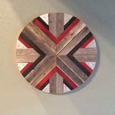 Rustic Round X Reclaimed Wood Wall Art Made by DustySquareDesigns