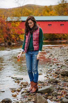 Sweater: Madewell (similar30% off) Vest:GapJeans: J.Crew (similar) Boots:ClarksBag:Frank CleggBracelet:Kiel...