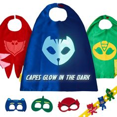 4pc kids foam Party MASKS SUPER HERO birthday bag toy filler costume fancy