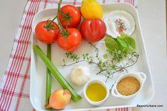 Supă cremă de roșii coapte cu crutoane cu parmezan sau de post | Savori Urbane Parmezan, Vegetables, Food, Celery, Essen, Vegetable Recipes, Meals, Yemek, Veggies