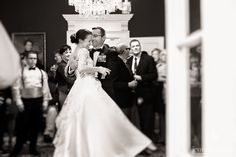 Bride and groom dancing at an intimate wedding in Annapolis
