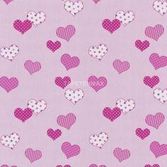 """Die 05690-20 Papiertapete aus der """"HAPPY KIDS"""" Kollektion von P+S International hat ein pinkes Herz-Muster. Besuchen Sie tapetenmax.de für weitere Farben."""
