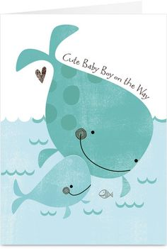 Cardstore makes it easy to personalize and mail baby shower cards like Baby Whale card. Just add your own photos, text and a signature to a sweet baby shower cards and we'll mail it for you! Cute Baby Boy, Baby Kind, Baby Poster, Poster Photo, Whale Illustration, Baby Whale, Whale Art, Wale, Boy Quilts