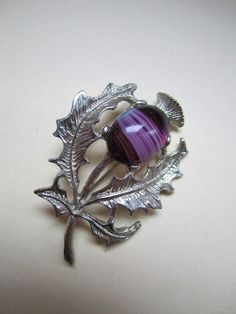 vintage thistle pin brooch by pioneervintage on Etsy, $8.00