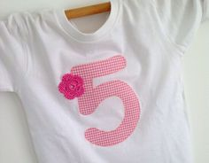 Geburtstagsshirt Zahlenshirt von Eene Meene 1-2-3 auf DaWanda.com
