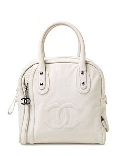 White Tall Bowler Bag by Chanel at Gilt