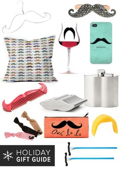 Mustache Gifts That'll Tickle Her Fancy #Movember (perfect for white elephant gift exchanges)