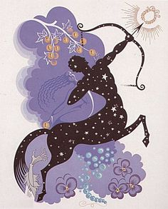 """Sagittarius"" by Erté"