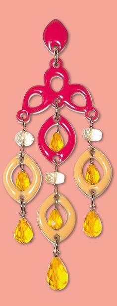 Orecchini Fabulous Crystal - Geranio e mandarino