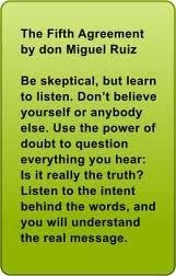 listen to the intent behind the words to understand the real message.