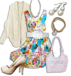 Floral Dress Outfit 1