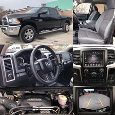 2017 'Black' Ram 3500 SLT 4x4.  BLUETOOTH. HTD SEATS. BACKUP CAM. TOW. BEDLINER.  Stock 2389. Click pic for more info.