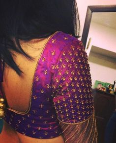 Stylish saree blouse designs prominent the looks of the wearer. For a classy and sophisticated look, try these blouse designs for wedding season. Wedding Saree Blouse Designs, Pattu Saree Blouse Designs, Blouse Designs Silk, Designer Blouse Patterns, Wedding Blouses, Salwar Designs, Saree Wedding, Wedding Dress, Simple Blouse Designs