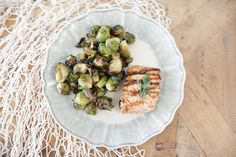 Salmon and brussel sprouts, a perfect dinner!!