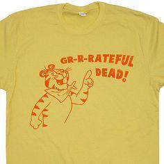 Grateful-Dead-T-Shirt-Vintage-Design-tour-lot-phish-band-70s-parking-concert-TEE