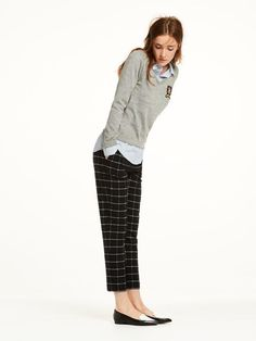Checked Trousers   Sweat pants   Ladies Clothing at Scotch & Soda
