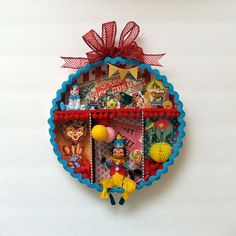 Circus Shadowbox/Diorama Wall by marileejanedesigns on Etsy