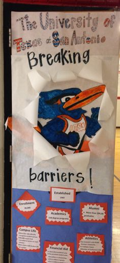 We are college bound! College week door decorating contest. I hope Michelle and I win!!