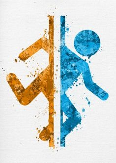 Obi Wan Kenobi Discover Portal Splatter Canvas Print by Jonathon Summers Portal Splatter Canvas Print Video Game Symbols, Video Game Logos, Video Game Posters, Video Game Art, Video Game Tattoos, Video Games, 2 Logo, Symbol Logo, Cartoon Network