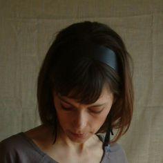 Brown Leather 'Audrey Hepburn' Headband by Hende