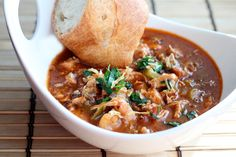 Chicken, Andouille, and Shrimp Gumbo - Simple Comfort Food Cajun Recipes, Seafood Recipes, Soup Recipes, Chicken Recipes, Healthy Recipes, Easy Recipes, Cheap Recipes, Supper Recipes, Amazing Recipes