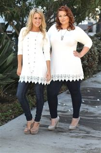 Everyday Lace Tunic- in mint