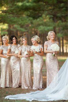 Encontrar Más Vestidos de Damas de Honor Información acerca de Champán del oro del cequi dama de honor 2016 Hot boda vestido de fiesta largo vestidos de fiesta vestido longo Customized vestido de fiesta, alta calidad vestidos para las mujeres en forma de pera, China vestidos bordados Proveedores, barato vestidos de parís de VIP Dress Co.,Ltd en Aliexpress.com