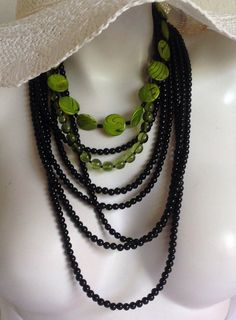 Hey, I found this really awesome Etsy listing at https://www.etsy.com/listing/241231207/lia-lime-green-multi-strand-long-beaded